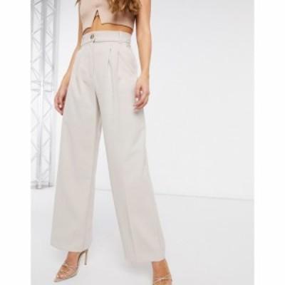 リバーアイランド River Island レディース ボトムス・パンツ ワイドパンツ Pleated Wide Leg Trousers In Grey グレー