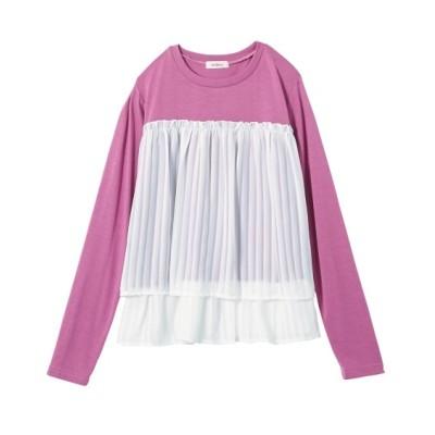【大きいサイズ】 重ね着風トップス(ヴェールダンス) plus size T-shirts, テレワーク, 在宅, リモート