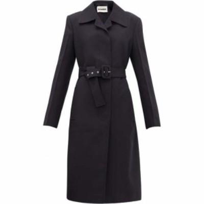 ジル サンダー Jil Sander レディース コート アウター Belted technical-twill coat Navy