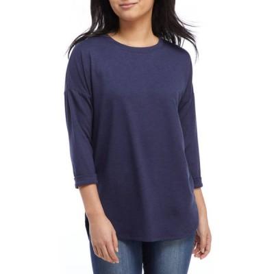 クラウン&アイビー レディース Tシャツ トップス Women's Drop Shoulder Sleeve Top