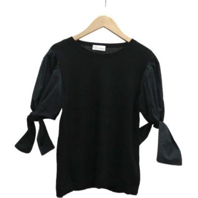 RED VALENTINO リボン袖デザインニット ブラック サイズ:S (堅田店) 200607