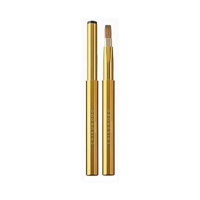 CHIKUHODO 熊野筆(化粧筆) 竹宝堂 携帯用 スタンダードライン リップブラシ ゴールド CL-5 メイクブラシ