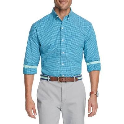 アイゾッド メンズ シャツ トップス Advantage Performance Gingham Button Up Shirt