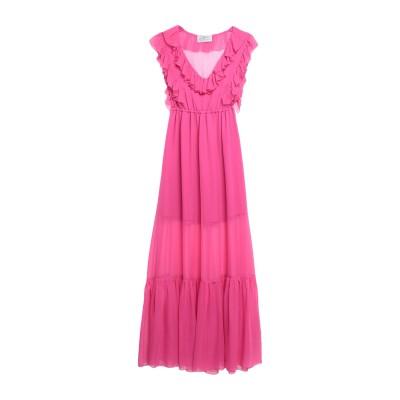 ATELIER NICOLA D'ERRICO ロングワンピース&ドレス フューシャ 42 シルク 100% ロングワンピース&ドレス
