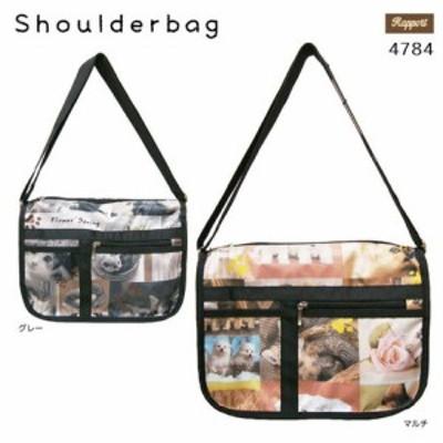 軽量ショルダーバッグ 転写いぬねこ柄 (4784)【送料無料】 (ショルダーバッグ、カバン、かばん、鞄)