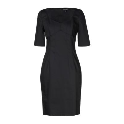 MARIELLA ROSATI ミニワンピース&ドレス ブラック 42 コットン 65% / ナイロン 30% / ポリウレタン 5% ミニワンピー