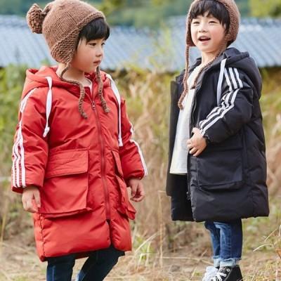 ロングダウンコート 子供コート 中綿コート 中綿ジャケット キッズ 韓国風 子供服 秋冬コート 冬着 可愛い 暖かい 男の子 女の子 防寒