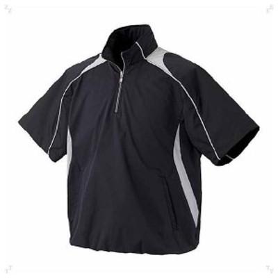 デサント 野球・ソフトボール用コート(BLK・サイズ:S) DESCENTE 半袖プルオーバーコート プロモデル DS-STD465-BLK-S返品種別A