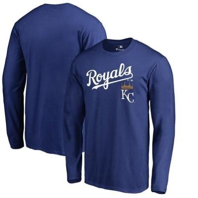ファナティクス ブランデッド メンズ Tシャツ トップス Kansas City Royals Fanatics Branded Big & Tall Team Lockup Long Sleeve T-Shirt