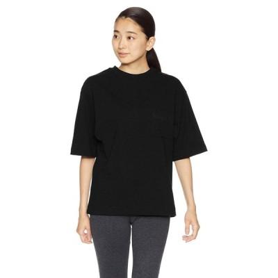 エムエックスピー Tシャツ ミディアムドライジャージ ビッグティーウィズポケット レディース ブラック 日本 L (日本サイズL相当)