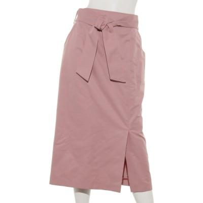 Doux archives (ドゥアルシーヴ) レディース ベルト付きタイトスカート PINK M