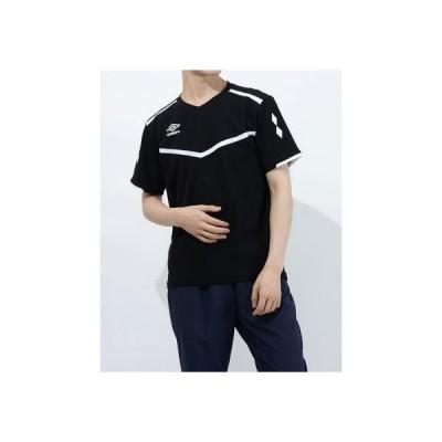 アンブロ UMBRO メンズ サッカー/フットサル 半袖シャツ ハンソデプラクテイスシヤツ UUURJA54 (ブラック)