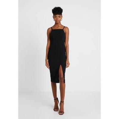 ヴァル ジー レディース ワンピース トップス STRAPPY SQUARE NECK MIDI DRESS - Shift dress - black black