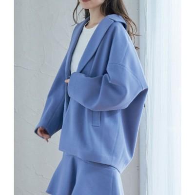 ビス ViS 【セットアップ】エコポリジャージーゆるジャケット (サックス(48))