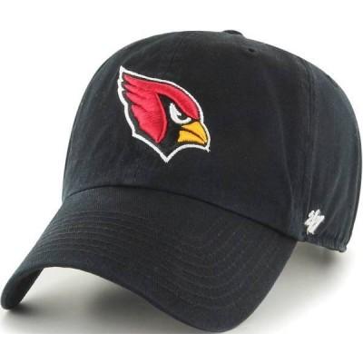 フォーティーセブン メンズ 帽子 アクセサリー '47 Men's Arizona Cardinals Clean Up Black Adjustable Hat