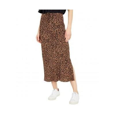 Madewell レディース 女性用 ファッション スカート Midi Slip Skirt in Leopard - Brushed Leopard Warm