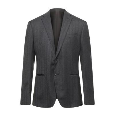 カルーゾ CARUSO テーラードジャケット ブラック 50 ウール 100% テーラードジャケット