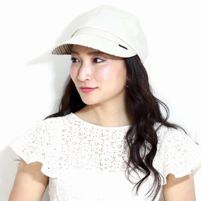 キャスケット 春夏 ダックス レディース シャンブレーツイル DAKS 日よけ 帽子 サイズ調整可能 日本製 春 夏 ベージュ