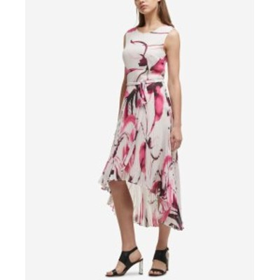 DKNY ダナキャランニューヨーク ファッション ドレス DKNY Womens Dress White Size 6 Sheath High-Low Pleated Belted