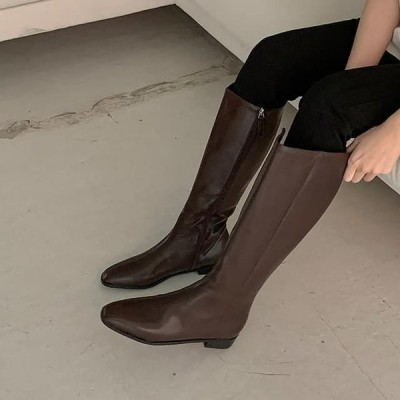 GIVEU レディース ブーツ Claire leather long boots