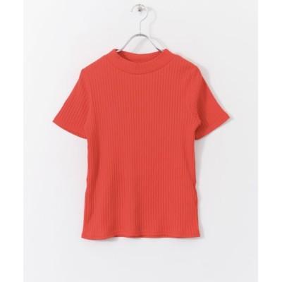 SENSE OF PLACE by URBAN RESEARCH/センスオブプレイス バイ アーバンリサーチ リブクルーネックTシャツ(半袖) RED FREE