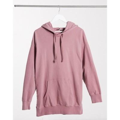 エイソス レディース パーカー・スウェット アウター ASOS DESIGN oversized panelled hoodie in washed pink