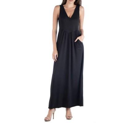 24セブンコンフォート レディース ワンピース トップス Women's V-Neck Maxi Dress