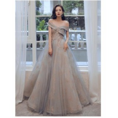 ウエディングドレス パーティードレス 上品 大人 ロング丈ドレス 結婚式 ブライズメイド ドレス フォーマル 合唱衣装 オフショルダー 二