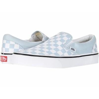 (取寄)バンズ クラシック スリップオン Vans Classic Slip-On (Checkerboard) Baby Blue/True White
