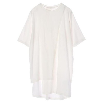 tシャツ Tシャツ アシンメトリーチュニック*