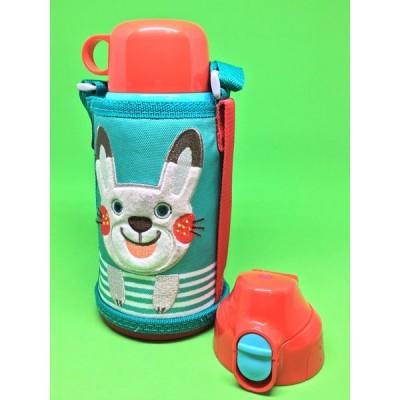 タイガー魔法瓶 ステンレスボトル コロボックル 2way(コップ 直飲み)水筒 MBR-B06GAR ウサギ 子ども用