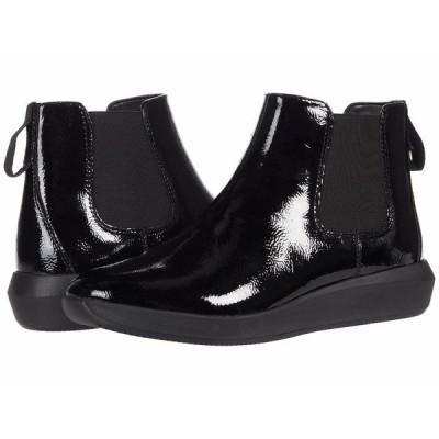 クラークス ブーツ&レインブーツ シューズ レディース Tawnia Mid Black Crinkle Patent Leather
