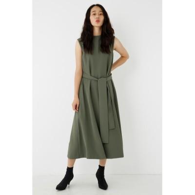 【シェルターセレクト】 ウエストタイレイヤードワンピース(Waist Tie Layered Dress) レディース KHA FREE SHEL'TTER SELECT