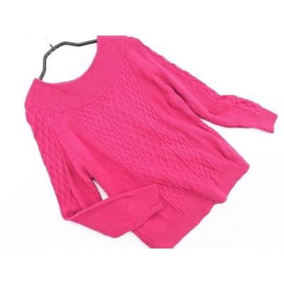 any SiS エニィスィス カシミヤ混 アラン ニット セーター size2/ピンク ◇■ ☆ bbb1