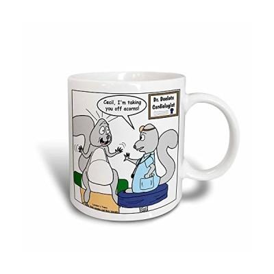 3dRose Doctor Squirrel Md Magic Transforming Mug, 11 oz, Black/White【並行輸入品】