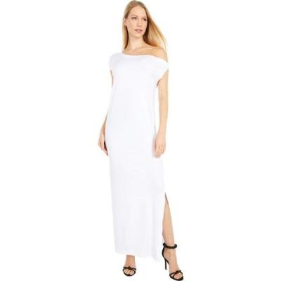 ノーマ カマリ KAMALIKULTURE by Norma Kamali レディース パーティードレス ドロップショルダー ワンピース・ドレス Drop Shoulder Gown White