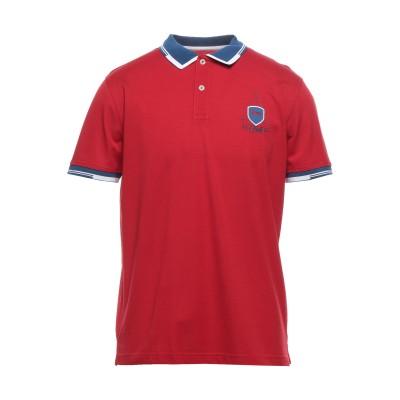 HARMONT&BLAINE ポロシャツ レッド L コットン 100% ポロシャツ