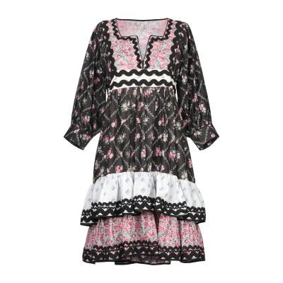 マヌーシュ MANOUSH ミニワンピース&ドレス ブラック 34 コットン 100% ミニワンピース&ドレス