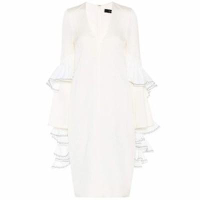 エラリー Ellery レディース ワンピース ワンピース・ドレス V-neck dress Ivory White Bla