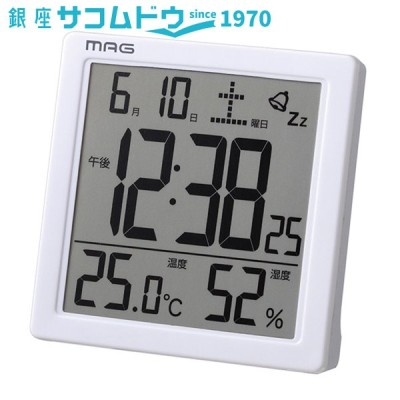 MAG マグ カッシーニ 目覚まし時計 T-726WH-Z ノア精密