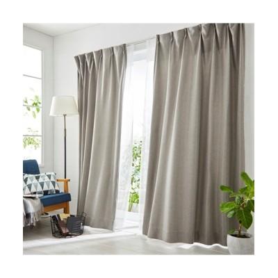 深い色合いの杢調遮光カーテン&レースセット カーテン&レースセット, Curtains, sheer curtains, net curtains(ニッセン、nissen)