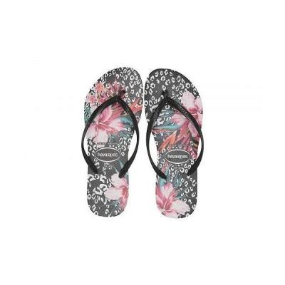 Havaianas ハワイアナス レディース 女性用 シューズ 靴 サンダル Slim Animal Floral - Black