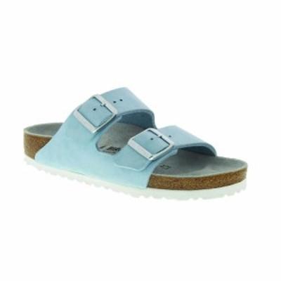 ビルケンシュトック Birkenstock USA レディース サンダル・ミュール シューズ・靴 Birkenstock Arizona Soft Footbed Sandal Sky Nubuck