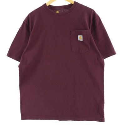 カーハート ワンポイントロゴポケットTシャツ M /eaa051008