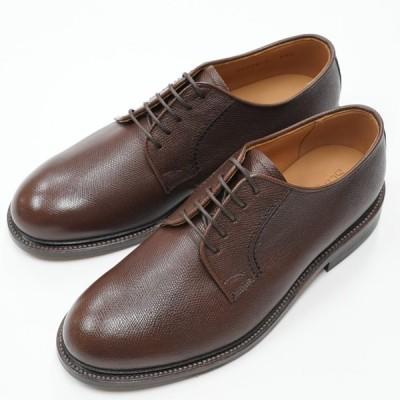 日本製グッドイヤーウエルト紳士靴 ショーンハイト 外羽根プレーン 「ラ・メール」型押しブラウン SH308-1-SCDR ラバー底