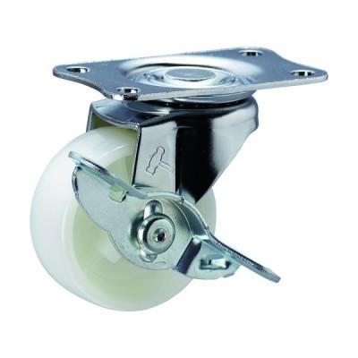 ハンマーキャスター(株) ハンマー Eシリーズ旋回式ナイロン車輪 50mm ストッパー付 415E-N50-BAR01 1個