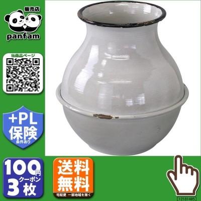 送料無料|SPICE プロヴァンスブリキ 壺型ポット グレー IVDN1250GY|b03