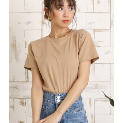 CHILLE シンプルタイトTシャツ(ベージュ)