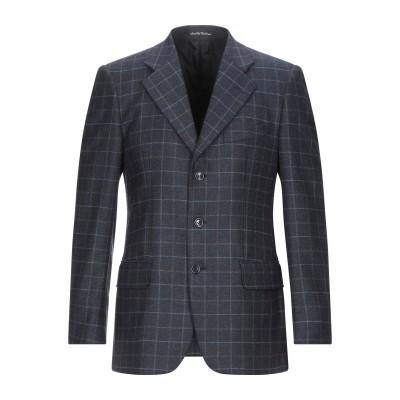 FACIS テーラードジャケット ダークブルー 48 バージンウール 95% / カシミヤ 5% テーラードジャケット