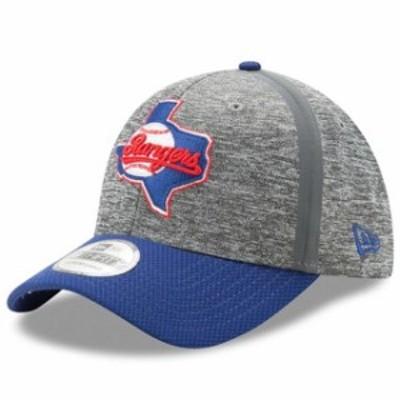 New Era ニュー エラ スポーツ用品  New Era Texas Rangers Heathered Gray/Royal Clubhouse 39THIRTY Flex Hat